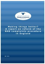 Making things better? A report on reform of the NHS complaints ...