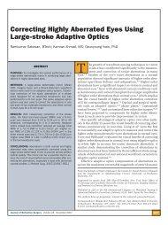 Correcting Highly Aberrated Eyes Using Large-stroke Adaptive Optics