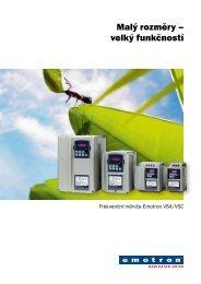 Frekvenční měniče Emotron VSA/VSC – malý ... - Elpro Drive, s. r. o.