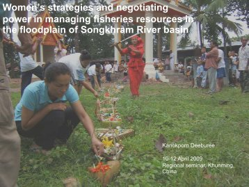 Women's Negotiating power in managing fisheries ... - RCSD