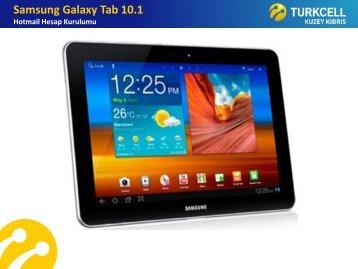 Samsung Galaxy Tab 10.1 Hotmail Hesap Kurulumu