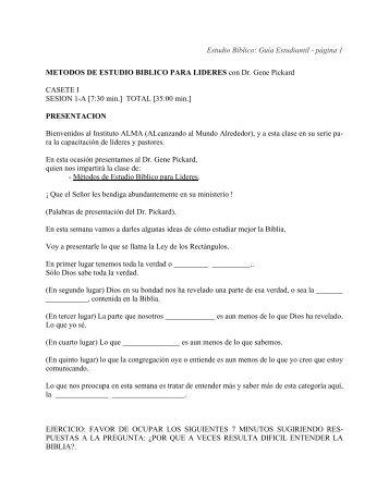 Estudio Bíblico: Guía Estudiantil - página 1 ... - Instituto ALMA
