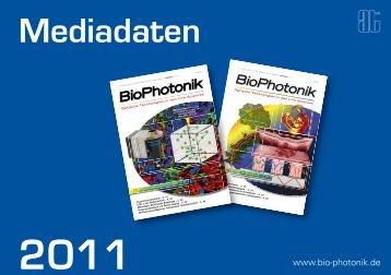 Mediadaten BioPhotonik_2011 - deutsch.pdf - AT-Fachverlag GmbH
