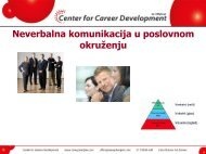 Veštine neverbalne komunikacije - Razvoj karijere