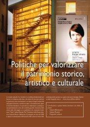 Politiche per valorizzare il patrimonio storico, artistico e culturale