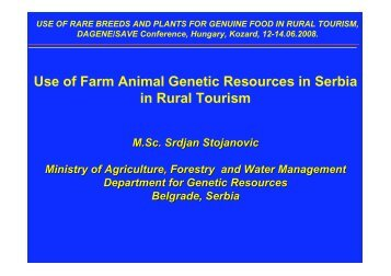 Use of Farm Animal Genetic Resources in ... - SAVE Foundation