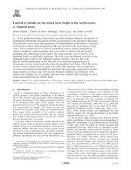 Control of salinity on the mixed layer depth in the world ocean: 2 ...
