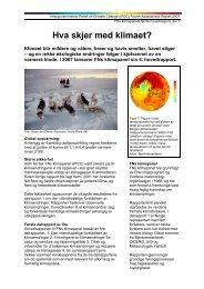Hva skjer med klimaet? (pdf) - Bjerknessenteret for klimaforskning