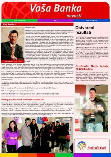 Vasa Banka MART 2008 PRIPREMA - ProCredit