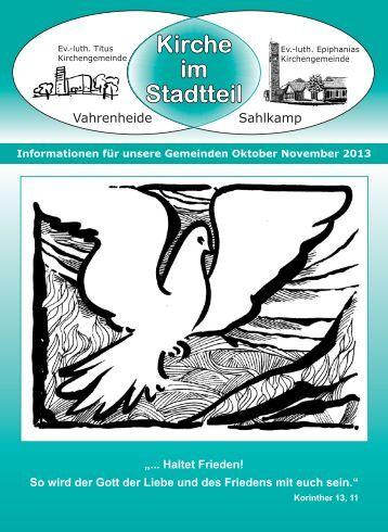 Gemeindebrief Oktober November 2013 - Ev.-luth. Epiphanias ...