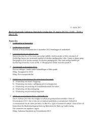 Bestyrelsesmøde Aabenraa Statsskole tirsdag den 19. marts 2013 kl ...