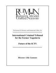 International Criminal Tribunal for the Former Yugoslavia Future of ...