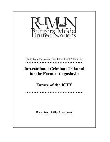 International Criminal Tribunal for the Former Yugoslavia Future of ...