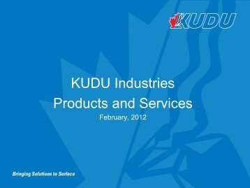 KUDU Industries Products and Services