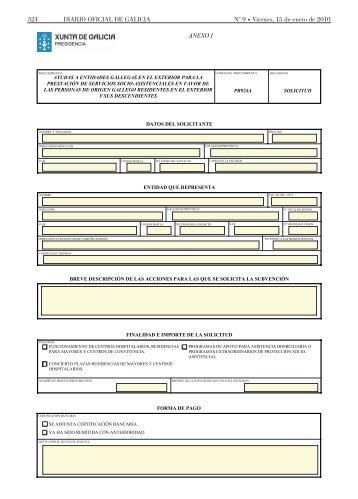 Formulario de solicitud del programa 1