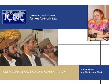 ICNL Annual Report 2005-2006.pmd - The International Center for ...