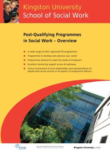 Post-Qualifying Programmes in Social Work - Faculty of Health ...