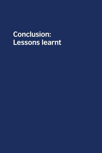 Conclusion: lessons learnt - TeachingEnglish