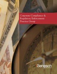 Corporate Compliance & Regulatory Enforcement Brochure - Benesch