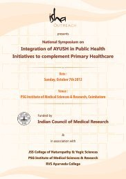 Integration of AYUSH in Public Health Initiatives to ... - Isha Outreach
