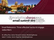Email Relevance: Three effective tactics to engage ... - meclabs