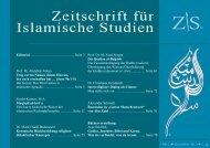 Zeitschrift für Islamische Studien 2. Ausgabe