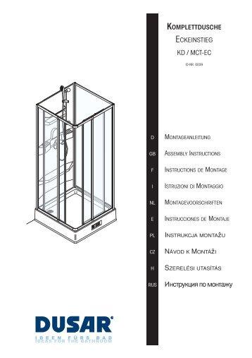 Montageanleitung - Duschmeister.de