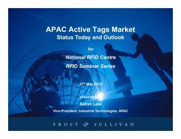 APAC Active Tags Market - National RFID Centre