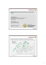 Weitere Geothermie-Projekte in der Schweiz und im grenznahen ...