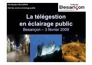 La télégestion en éclairage public - Ascomade