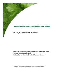 Trends in breeding waterfowl in Canada - Species at Risk