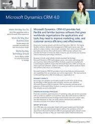 Microsoft Dynamics CRM 4.0 What's New - Ledgeview Partners