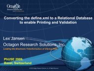 Converting the define.xml to a relational database to ... - PhUSE Wiki