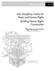 Building Human Rights Communities - Alberta Council for Global ...