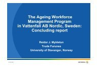 Presentation - Older workers in a sustainable society - great needs ...