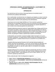 Ordenança General de Subvencions de L - Cànoves i Samalús