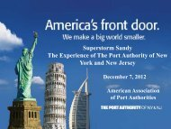 Superstorm Sandy The Experience of The Port Authority of New ...