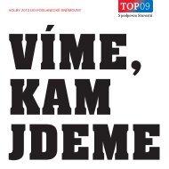 Volební program 2013 - TOP 09