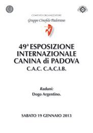Sabato  - Canitalia