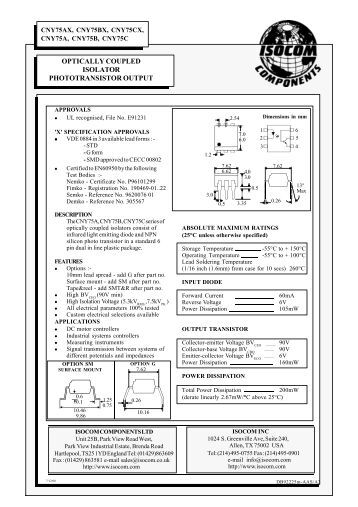 vom618a low input current  phototransistor output  sop
