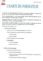 CHARTE DU FORMATEUR - SDIS14