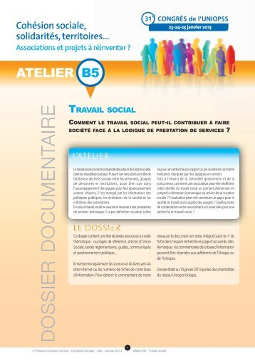 Dossier documentaire Travail social - Uniopss