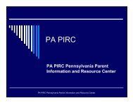 PA PIRC - Center for Schools and Communities