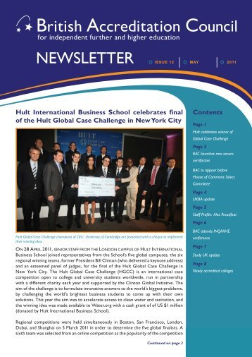 BAC Newsletter May 2011