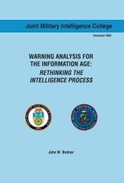 Warning Analysis for the Information Age - Higgins Counterterrorism ...