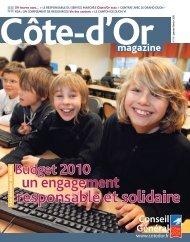 Janvier - Février 2010 en PDF - Conseil général de Côte-d'Or