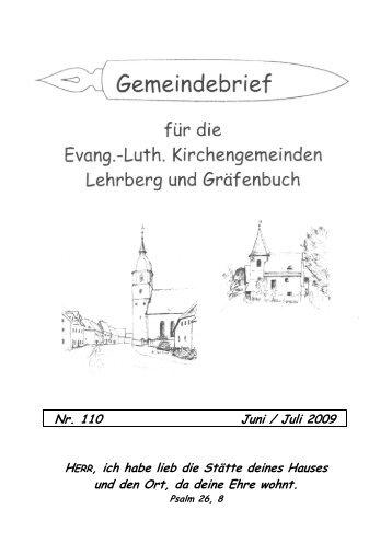 Gemeindebrief Nr. 110 - Kindergarten Guter Hirte Lehrberg