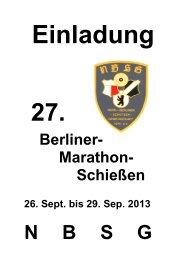 Berliner - Marathon-Schießen - Sport-Schützen Verein Liebenthal eV