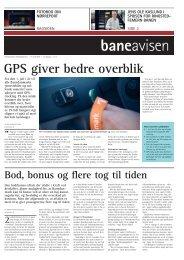 GPS giver bedre overblik - Banedanmark