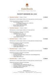 PACCHETTI BENESSERE 2011-2012 - CastelBrando